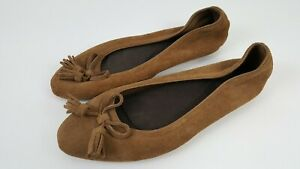 Crocs Brown Suede Triple Comfort Women's Size 8 Loafers 203409 V05 Brown Leather