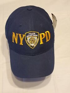 NYPD Embroidered Hat Navy Blue Adjustable Headwear USA Hook And Loop