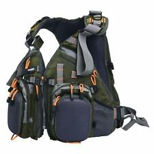 Fly Fishing Backpack Adjustable Size Mesh Fishing Vest Pack And Backpack Combo