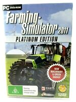 Farming Simulator 2011 Platinum Edition PC CDROM Game Win XP/Vista/7 Rated G