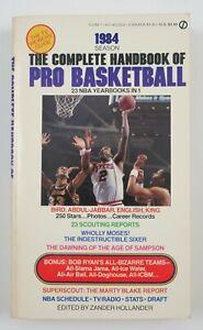 1984 Complete Handbook of Pro NBA Basketball Zander Hollander Book