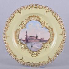 KPM Berlino Piatti viste di Dresda, episodico piatto, pittura sottili, muro piatto