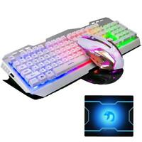 V1 Wired Gaming Keyboard +Gaming Mouse Sets + Mouse pad Backlit Usb Ergonomic