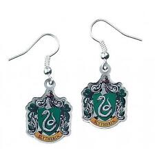 New Official Genuine Harry Potter Silver Plated Slytherin Earrings