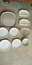 Microwave safe dishes and bacon rack, sectioned plates with lid, bowl, 4 plates