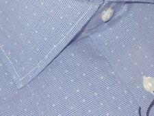 NEW IKE BEHAR BLUE & WHITE MICRO DOBBY CLASSIC FIT DRESS SHIRT 18.5 34/35