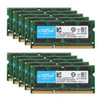 Crucial 32GB 16GB 8GB PC3L 12800 DDR3L 1600MHz Laptop Memory RAM SO-DIMM Lot @RY