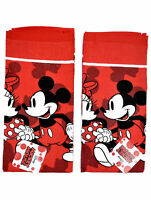 Mickey & Minnie Mouse Kitchen Dish Towels 2Pc Set Red