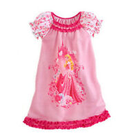 Girls Kids Moana Elsa Sleepwears Princess Mini Dress Pyjamas Nightwear Nightgown