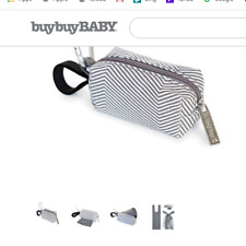 Oh Baby Bags Clip-On Mini Stripes Wet Bag Dispenser in Grey/White /Target/New