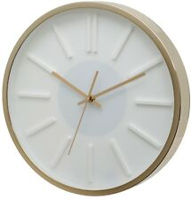 UNITY MISSOURI WHITE DIAL WALL CLOCK WITH GOLD CASE