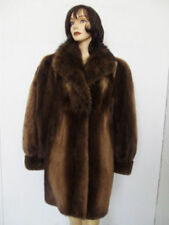 NEW SHOWROOM ARCTIC BEAVER FUR JACKET COAT W/ RACCOON WOMEN WOMAN SZ10-12 MEDIUM