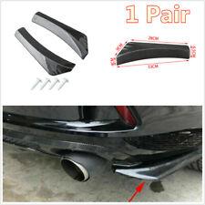 1 Pair Car Rear Bumper Spoiler Splitters Winglet Diffuser 13in Universal + Screw