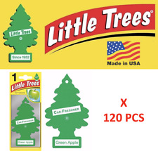 Green Apple Little Trees 10316  Freshener  Air Tree MADE IN USA Pack of 120