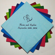 400 PERSONALIZED COCKTAIL NAPKINS - Wedding, Baby Shower, Birthday