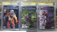 Death of Wolverine #1 2 3 Foil CGC SS 9.8 4x Signed Soule Ponsor McNiven Leisten