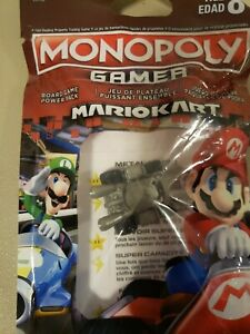 Monopoly Gamer Mario Kart Power Pack Metal Mario Token New