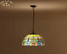 Tiffany Style Stainded Glass Shade Pendant Baroque E27 Light Ceiling Lamp