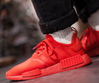 New adidas Originals NMD R1 Mens athletic sneaker triple red white all sizes