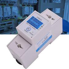 LCD Digitale Wechselstromzähler Stromzähler Wattmeter 1Phazen mit MID Zertifikat