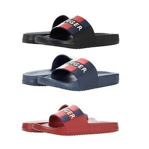 Men's Tommy Hilfiger Designer Casual Striped Slippers Romey Slide Sandals