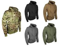 Viper Tactical Mens Army Jacket Zipped Hoodie Military Jogging Training Black UK