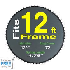"Trampoline Jumping Mat 12' Round Frame Having 72 Ring 4.75"" Spring TrampolinePro"