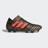Adidas Nemeziz Messi 17.1 FG Soccer Cleats (BB6351) Black/Gold/Red