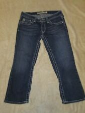 BIG STAR SWEET ULTRA LOW RISE JEAN CAPRIS  CROPPED JEANS JUNIORS SIZE 26; GUC
