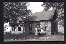 Nashua Iowa IA c1940s RPPC Historical Museum Cabin, Barn by Little Brown Church