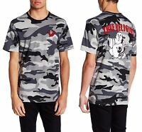 TRUE RELIGION Camo Crew Neck Big Buddha Cotton T-Shirt Sz.Large NWT $69
