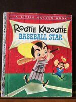 """RARE Little Golden Book, Rootie Kazootie  Baseball Star, 1st Ed """"A"""" 1954"""