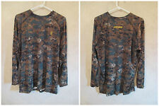 NEW IRONCLAD L 1st Layer FORM FIT Long Sleeve Tight Brown Camo Muscle Shirt