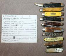 Lot 11 Antique Pocket Knives REMINGTON CAMILLUS KA-BAR SCHRABE HAMMER for parts