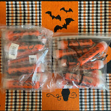 New Mini Orange Bat Halloween Flashlights On Rope Apparel Accessories 16 Pieces