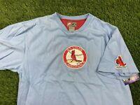 VTG Nike St Louis Cardinals Men XL Embroidered Baseball Short Sleeve Tee Shirt