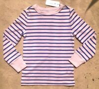 NWT Gymboree Girls Pink & Blue Striped Long Sleeve (180) T-Shirt Top