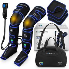 REATHLETE Leg Foot Athlete Compression Heating Pad Massager Boots w/ Controller