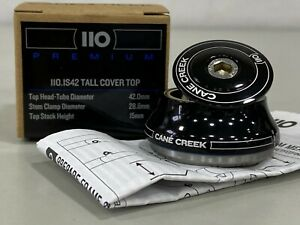 Cane Creek 110 Premium IS42/28.6/H15 110 Headset Tall Cover Top Black #BAA0662K