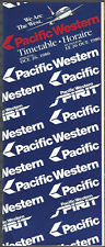 Pacific Western Airlines system timetable 10/26/86 [7072] Buy 2 Get 1 Free