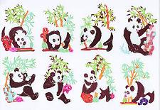 Paper Cuts Single Panda Set 10 colorful small pieces Zhou 1 packet Lot