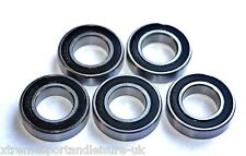 5 pack 6001 2rs 12x28x8w STAINLESS STEEL Deep Groove HIGH PERFORMANCE BEARINGS