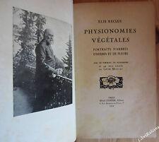 E. RECLUS Physionomies végétales 49 bois gravés de Louis MOREAU Ed. Costes