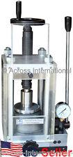 24-Ton Lab Manual Pellet Press w/ Hydraulic Pump Protection Shield (item# MP24A)