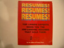 RESUMES!  RESUMES!  RESUMES!  by the Editors of Career Press