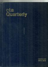 CTA Magazine Chicago Transit Authority Bound Volume 1974-75 Employees