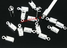 15pz coprinodo terminale in ottone 10x4mm nikel free colore argento