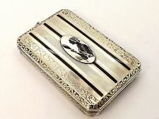 ART DECO MARATHON ENAMELLED STERLING SILVER COSMETIC CASE ~EXQUISITE PIECE~