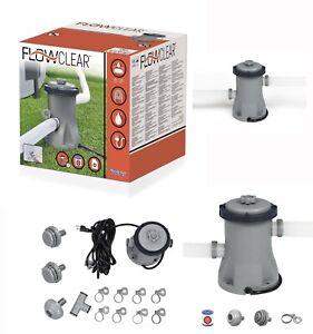 330gal Electric Pump Swimming Bestway Pool Flowclear Filter 58381