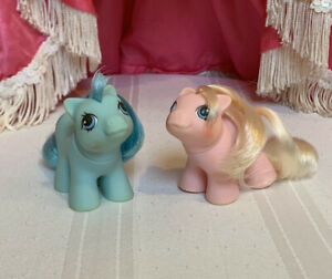 Hasbro My Little Pony G1 Year Newborn Twins Doodles and Noodles baby ponies